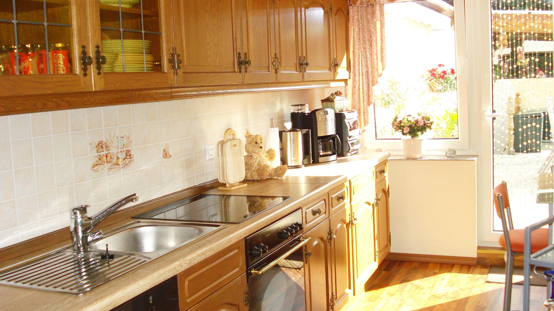 Küche, Ausgang Terasse