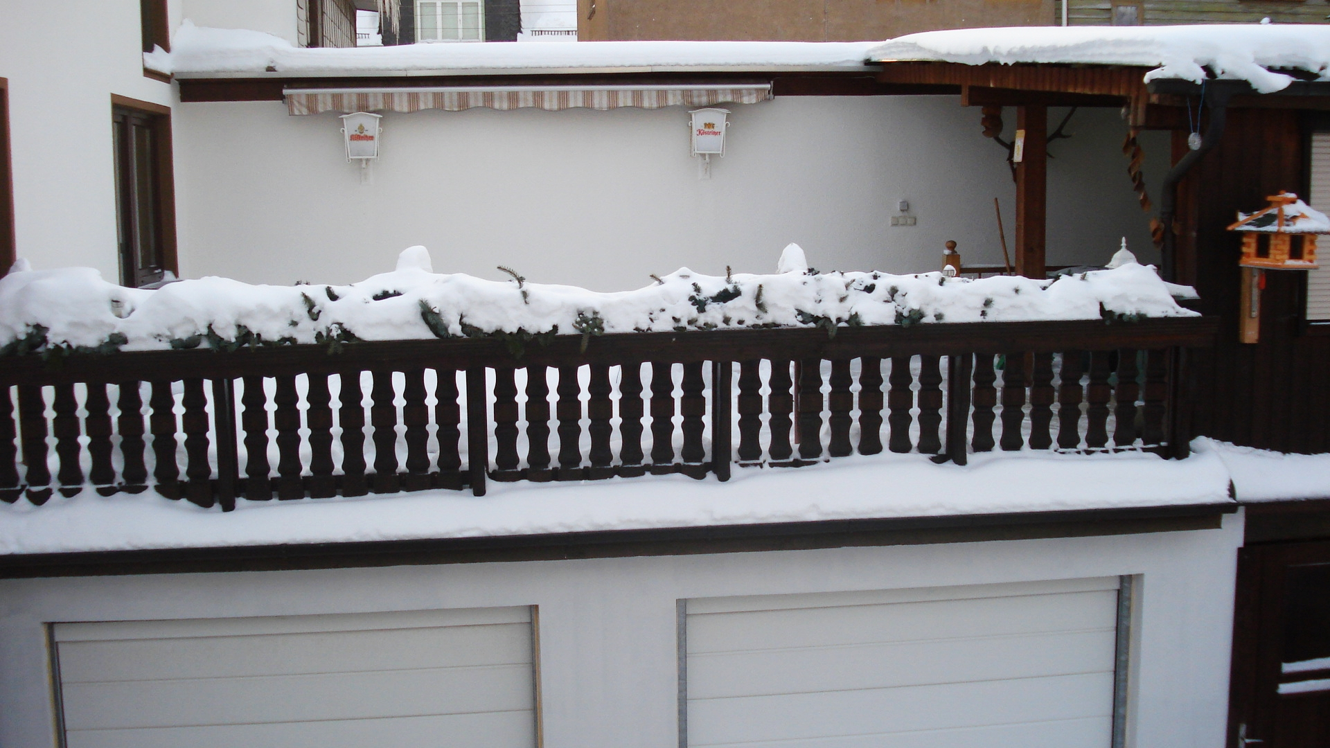 Wohnhaus, Terasse Winter